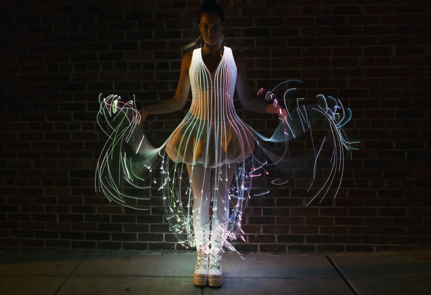 Light Up Dress and Fiber Optic Dresses