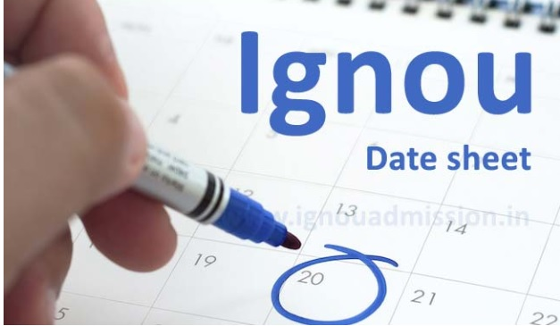 IGNOU Date Sheet 2019