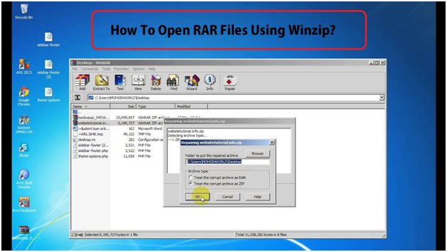 Open RAR files in Windows 10