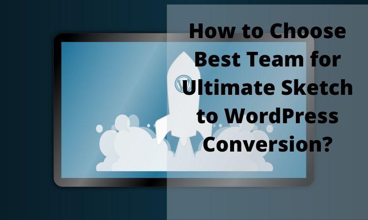 Sketch to WordPress conversion