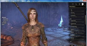 ESO character creation screen.