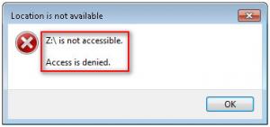 Access Denied USB Drive Not Open