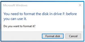 USB Drive Becomes RAW
