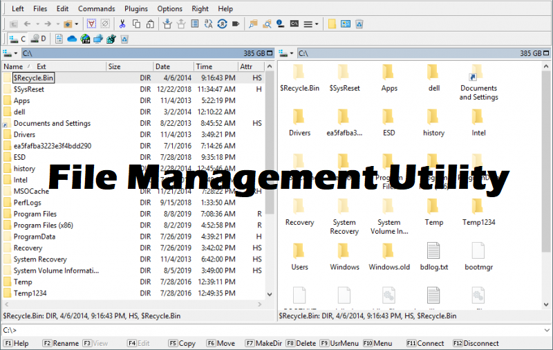 one example of a file management utility is windows