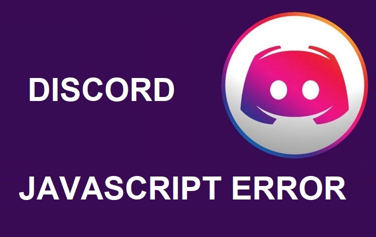 Fix the Discord Javascript Error