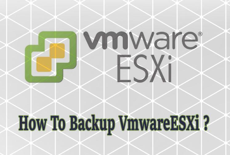 How To Backup VmwareESXi